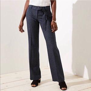 LOFT Marisa trouser 8 Tall tie waist